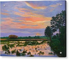 Loxahatchee Sunset Acrylic Print