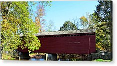 Loy's Station Covered Bridge Acrylic Print