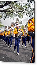 Lsu Marching Band 2 Acrylic Print by Steve Harrington