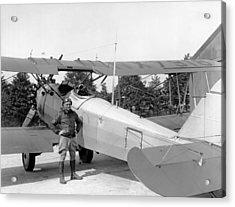 Lt. Doolittle's Anti Fog Plane Acrylic Print by Underwood Archives