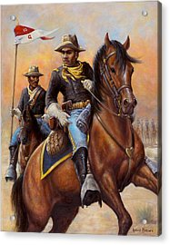 Acrylic Print featuring the painting Lt. Flipper's Command by Harvie Brown
