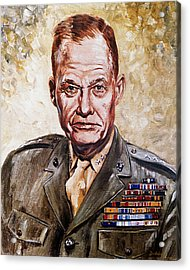 Lt Gen Lewis Puller Acrylic Print by Mountain Dreams
