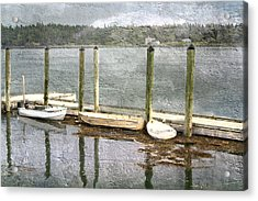 Lubec - Maine Boat Dock  Acrylic Print