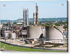 Lubricants Plant Acrylic Print by Andrew Wheeler/science Photo Library