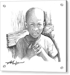 Acrylic Print featuring the drawing Luc by Bob Salo