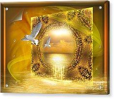 Acrylic Print featuring the digital art Lucid Dream - Surreal Art By Giada Rossi by Giada Rossi