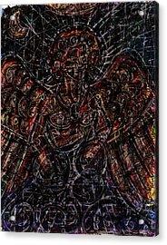 Lucifer Defies God Acrylic Print by Rachel Scott