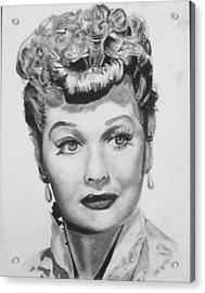 Lucille Ball Acrylic Print by Aaron Balderas