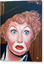 Lucille Ball Acrylic Print by Tom Roderick