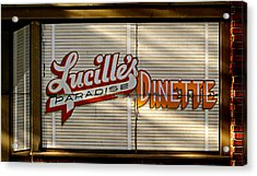 Lucille's Dinette Acrylic Print by Bud Simpson