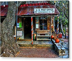 Luckenbach Texas Acrylic Print by Judy Vincent