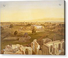 Lucknow, From India Ancient And Modern Acrylic Print by William 'Crimea' Simpson