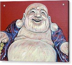 Lucky Buddha Acrylic Print by Tom Roderick