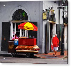 Lucky Dogs - New Orleans Acrylic Print by Bill Cannon
