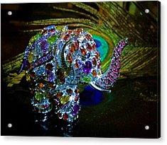 Lucky Jeweled Elephant Acrylic Print by Susan Maxwell Schmidt