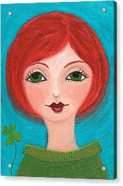 Acrylic Print featuring the painting Lucky by Lisa Noneman