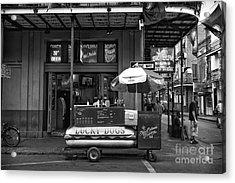 Lucky On Bourbon Street Mono Acrylic Print by John Rizzuto