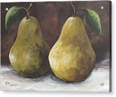 Lucky Pears II Acrylic Print by Torrie Smiley