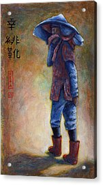 Lucky Red Boots Acrylic Print by Retta Stephenson