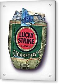 1940's Lucky Strike Green Acrylic Print by Walt Foegelle