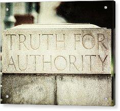 Lucretia Mott Truth For Authority Acrylic Print by Lisa Russo