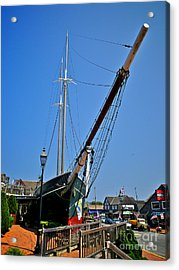 Lucy Evelyn At Schooner's Wharf Acrylic Print by Mark Miller