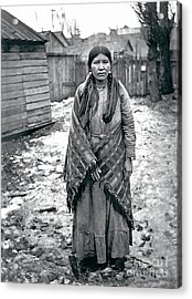 Lucy From The Yakama Tribe 1912 Acrylic Print by Mary Mires