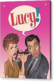 Lucy Acrylic Print by Philip White