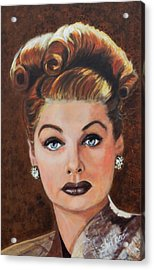 Lucille Ball Acrylic Print by Shirl Theis