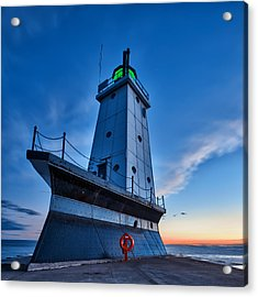 Acrylic Print featuring the photograph Ludington Lighthouse by Sebastian Musial