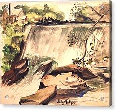 Ludington Michigan Spillway Acrylic Print