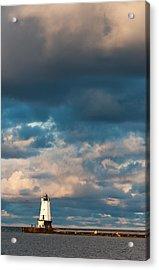 Ludington North Breakwater Lighthouse At Sunrise Acrylic Print