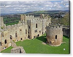 Ludlow Castle Chapel And Great Hall Acrylic Print by Tony Murtagh