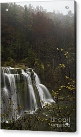Ludlowville Falls In Autumn I Acrylic Print by Michele Steffey