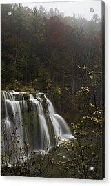 Ludlowville Falls In Autumn I Acrylic Print