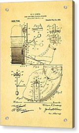 Ludwig Drum And Cymbal Apparatus Patent Art 1909 Acrylic Print by Ian Monk