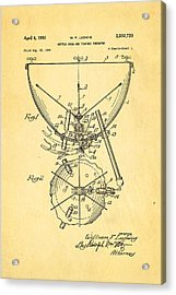 Ludwig Kettle Drum And Timpani Patent Art 1950 Acrylic Print by Ian Monk