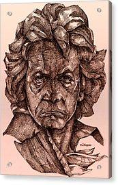 Ludwig Van Beethoven Acrylic Print by Derrick Higgins