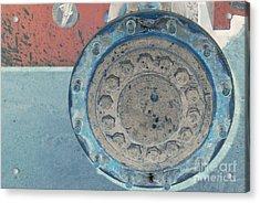 Lug Nut Wheel Right  Acrylic Print by Heather Kirk