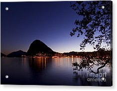 Lugano By Night Acrylic Print