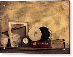 Luggage And Memories Acrylic Print by Maria Angelica Maira