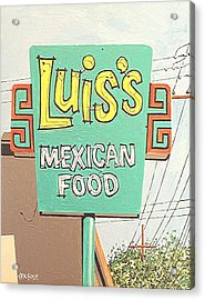 Luis's Acrylic Print by Paul Guyer