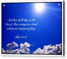 Luke 21 27 Acrylic Print