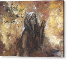 Luke 7 Verse 47 Forgiveness Acrylic Print