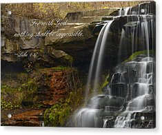 Luke Scripture Waterfall Acrylic Print