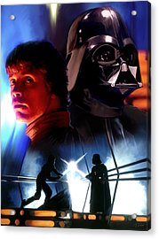 Luke Skywalker Vs Darth Vader Acrylic Print by Paul Tagliamonte
