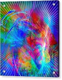 Acrylic Print featuring the digital art Luke by Visual Artist Frank Bonilla