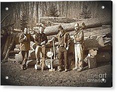 Lumberjacks Acrylic Print by Robert Kleppin