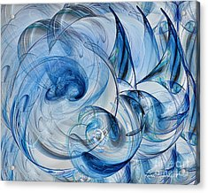 Luminance Washed In Blue Acrylic Print by Leona Arsenault