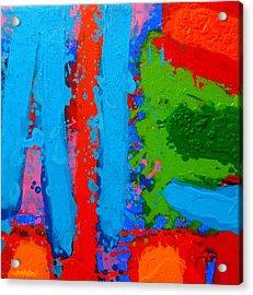 Luminous Blues Acrylic Print by John  Nolan